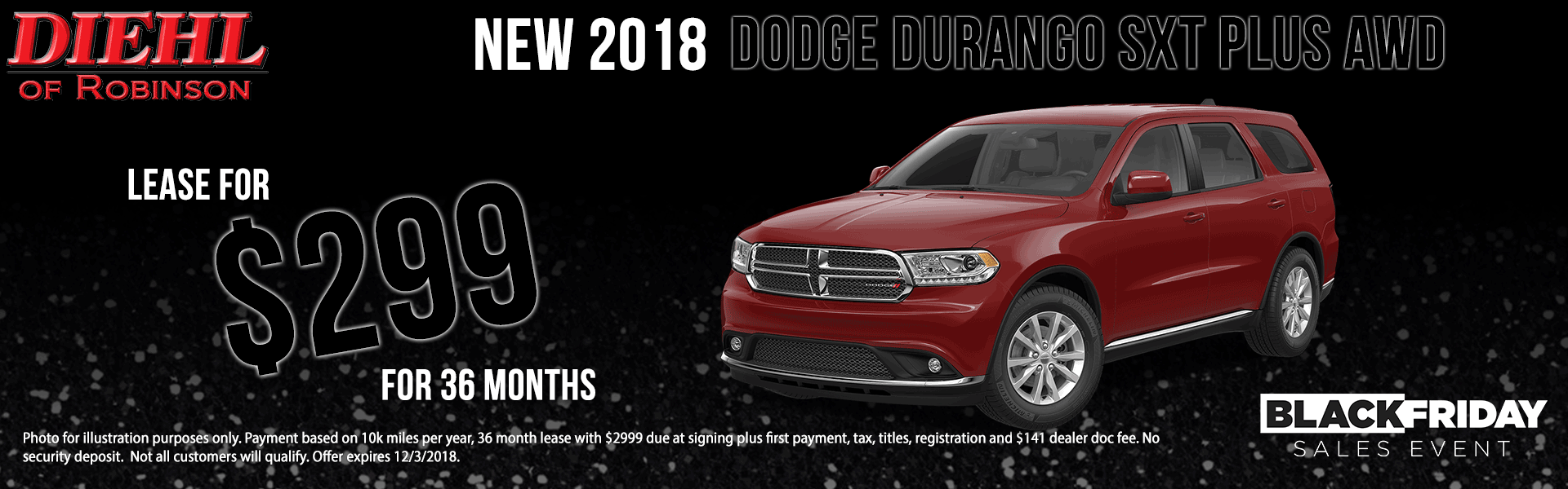 Diehl of Robinson Township. Chrysler jeep dodge ram New used service collision parts and accessories. NEW 2018 DODGE DURANGO SXT PLUS AWD