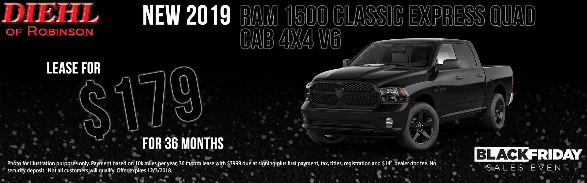 Diehl of Robinson Township. Chrysler jeep dodge ram New used service collision parts and accessories. NEW 2019 RAM 1500 CLASSIC EXPRESS QUAD CAB® 4X4 6'4
