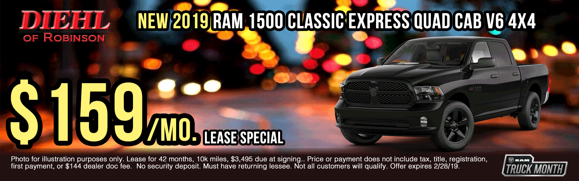 19D0802-2019-ram-1500-classic-express-quad-cab presidents day sales event Ram truck month new vehicle specials ram specials diehl specials diehl Chrysler dodge jeep ram of Robinson diehl of Robinson Diehl Automotive diehl Robinson chrysler specials jeep specials dodge specials truck specials lease specials
