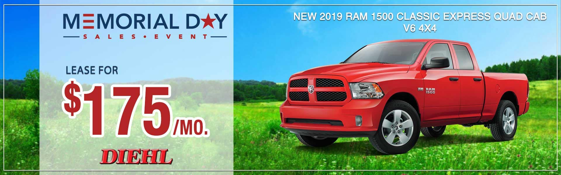 Diehl of Robinson Robinson Township, pa. Chrysler Jeep Dodge Ram. New, used, parts, service, accessories NEW 2019 RAM 1500 CLASSIC EXPRESS QUAD CAB® 4X4 6'4