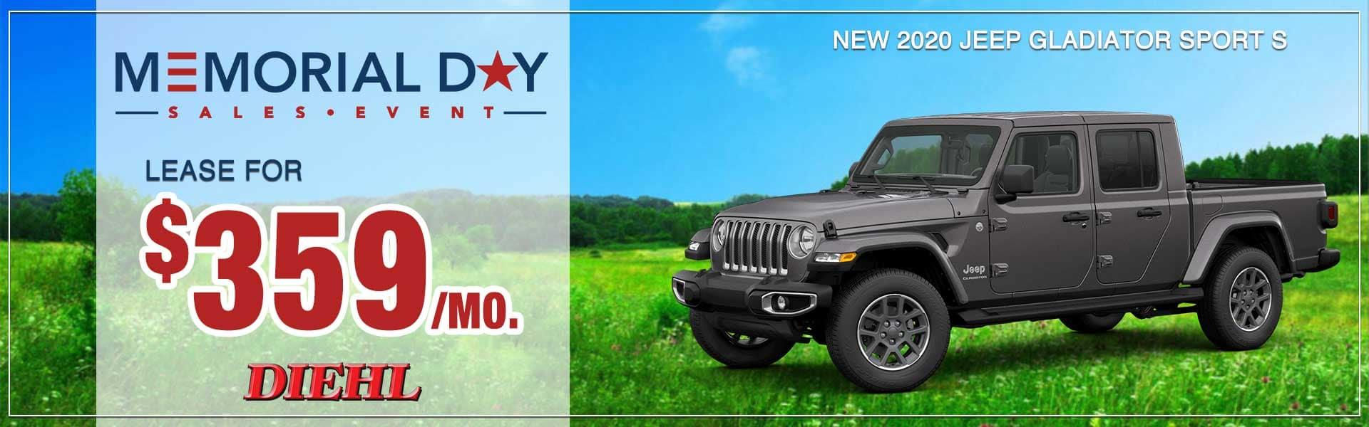 memorial day sales event jeep gladiator jeep lease diehl robinson wrangler jeepfest bantam