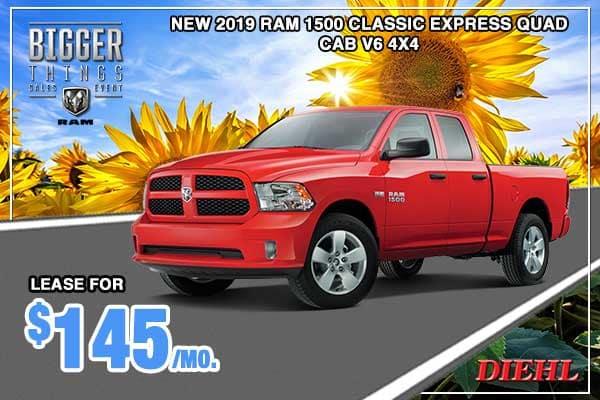 NEW 2019 RAM 1500 CLASSIC EXPRESS QUAD CAB® 4X4 6'4