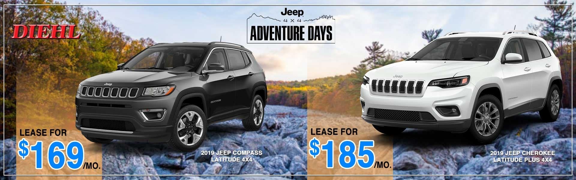 Ram power days dodge power dollars jeep adventure days Chrysler dodge jeep ram carright Diehl auto Robinson lease special new vehicle special ram lease jeep lease mopar