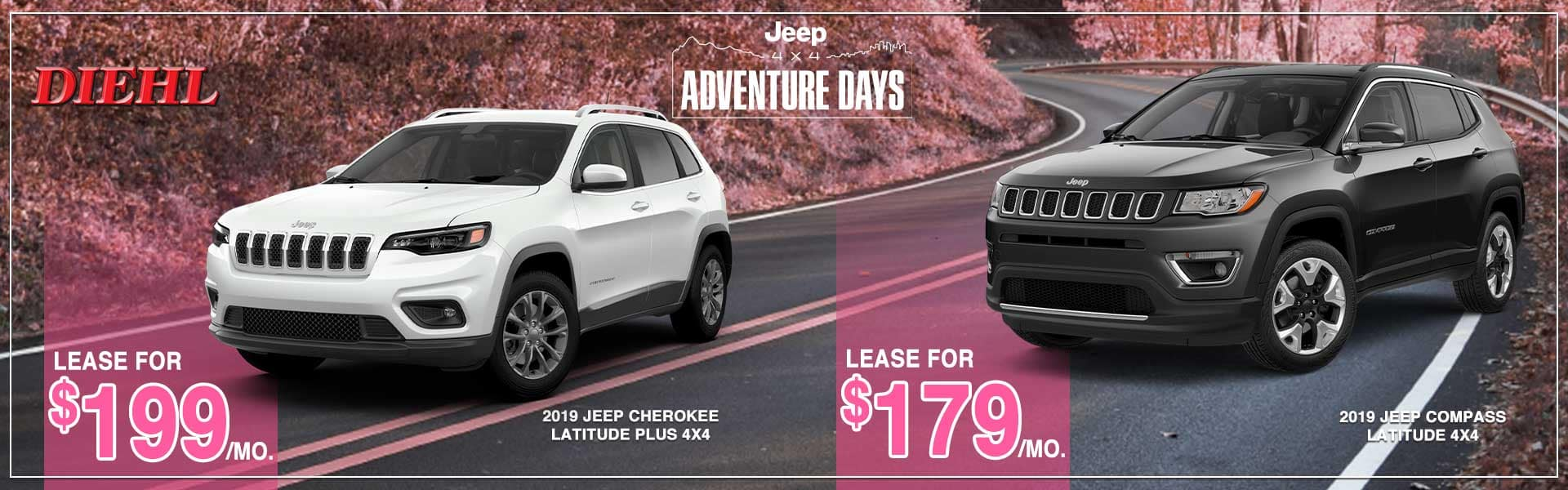 diehl auto Dodge power dollars jeep adventure days ram power days dodge lease special ram lease special Chrysler lease special jeep lease special glimmer of hope breast cancer awareness cars for a cause diehl Robinson PA mopar