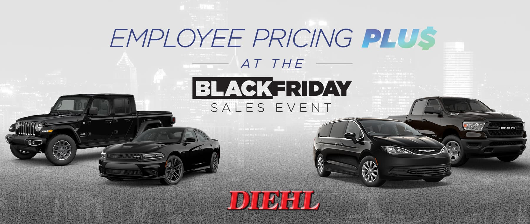 Diehl robinson Chrysler dodge jeep ram employee pricing Black Friday sales event