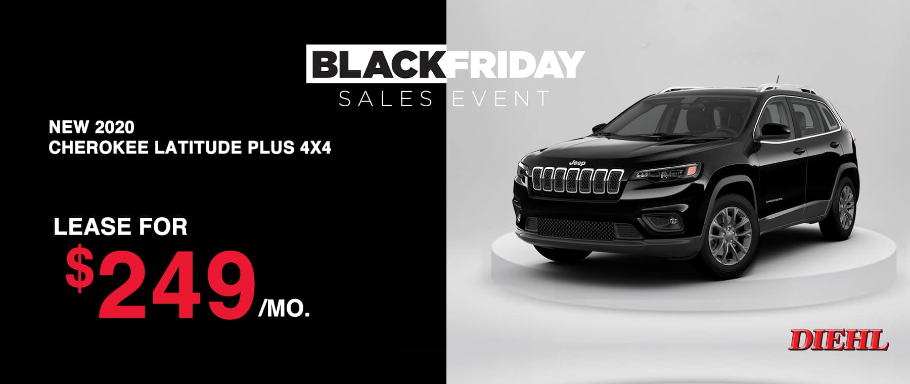 J201010-JEEPCHEROKEELATITUDEPLUS Diehl Robinson Chrysler dodge jeep ram Black Friday sales event lease special new vehicle special sale year end savings employee pricing plus