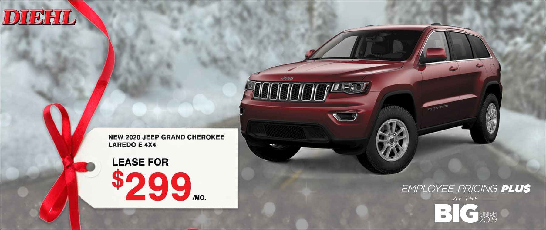 V3612_2020JEEPGRANDCHEROKEE Big finish event employee pricing plus Chrysler dodge jeep ram diehl of Robinson pa diehl automotive lease special buy now savings discount