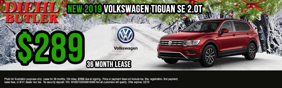 Diehl Volkswagen of Butler, PA new and used vehicle sales, service, parts, and accessories. Chrysler jeep dodge ram toyota volkswagen New 2019 Volkswagen Tiguan 2.0T SE AWD