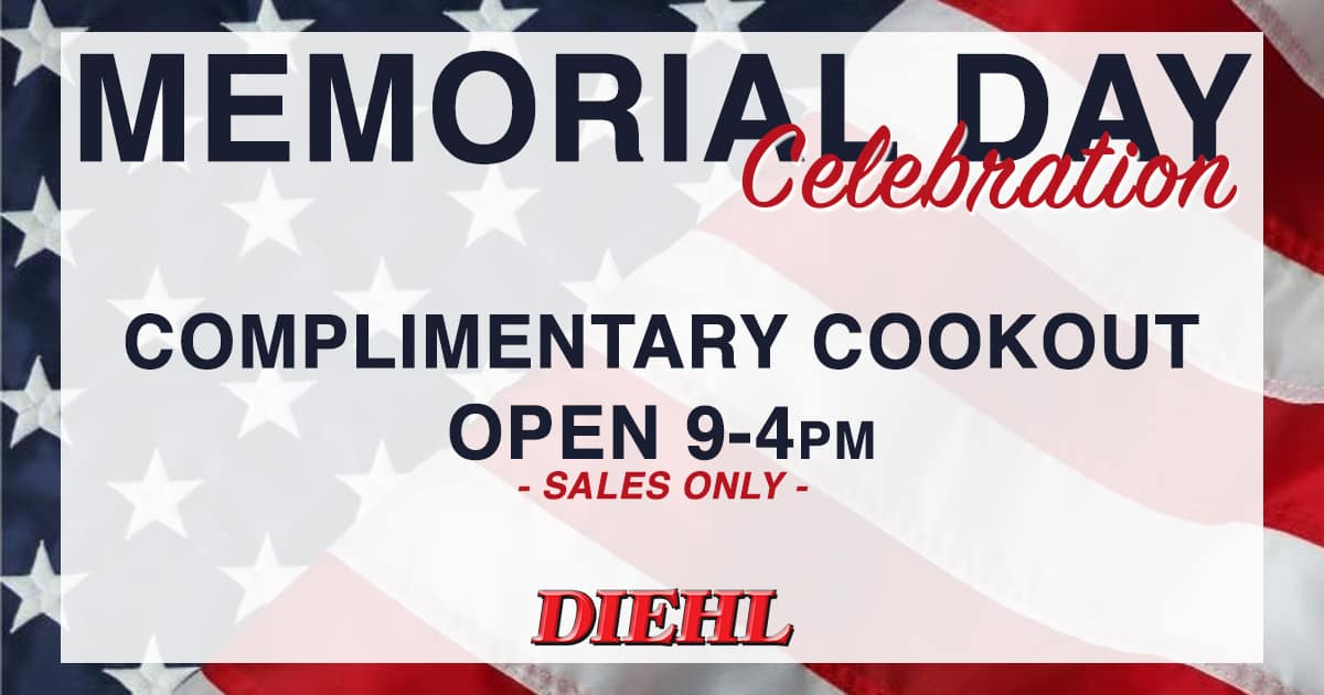 memorial day cookout diehl auto butler salem ohio robinson grove city chrysler dodge jeep ram chevrolet buick cadillac toyota volkswagen mitsubishi memorial day sales event