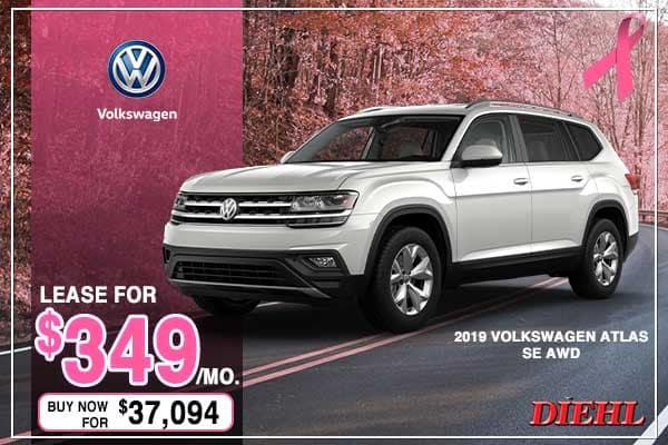 New 2019 Volkswagen Atlas SE AWD