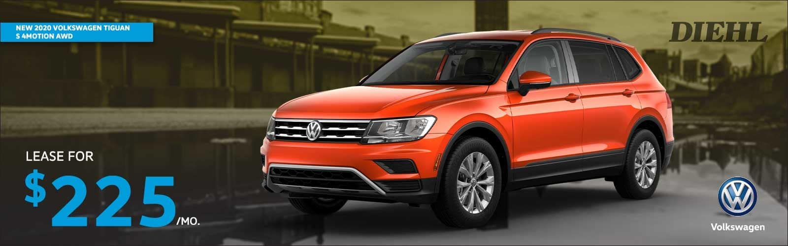 NEW 2020 VOLKSWAGEN TIGUAN S 4MOTION AWD