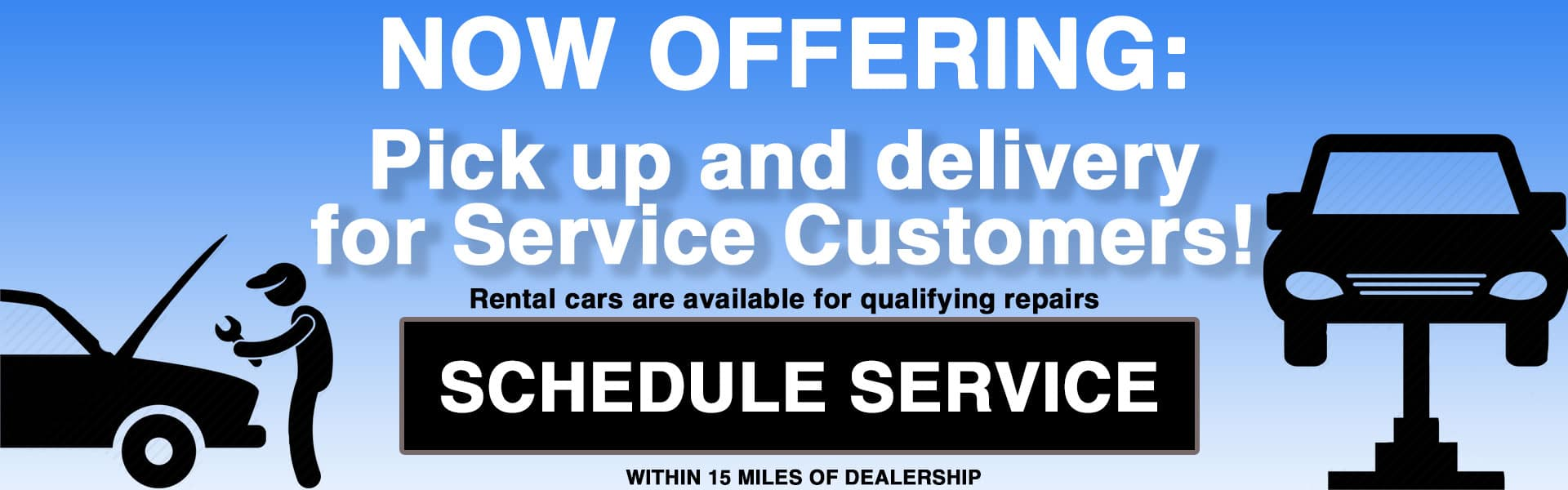 Now offering vehicle service pick up and drop off. Diehl Automotive Chrysler Jeep Dodge Ram Toyota Volkswagen Mitsubishi Chevrolet Buick Cadillac