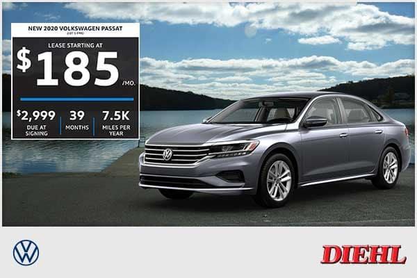 New 2020 Volkswagen Passat 2.0T S FWD 4D Sedan