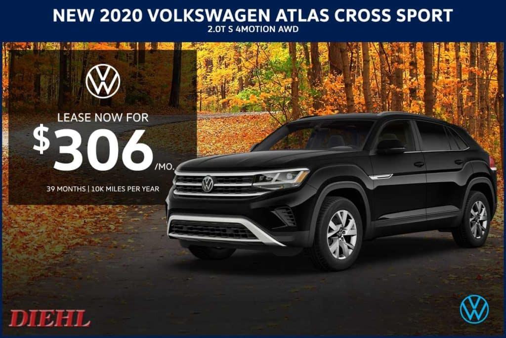 NEW 2020 VOLKSWAGEN ATLAS CROSS SPORT 2.0T S 4MOTION AWD