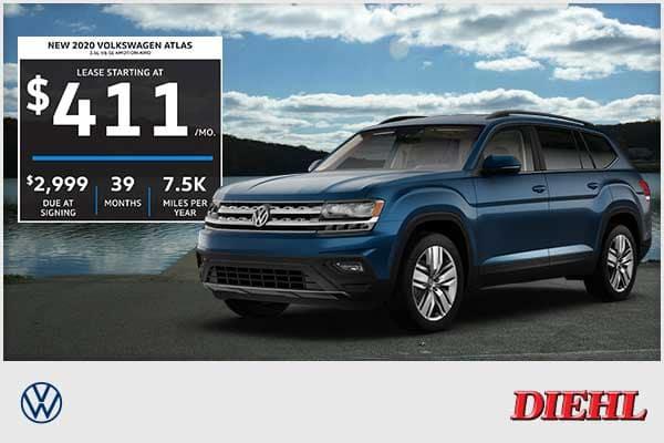 NEW 2020 VOLKSWAGEN ATLAS 3.6L V6 SE 4MOTION W/TECH AWD