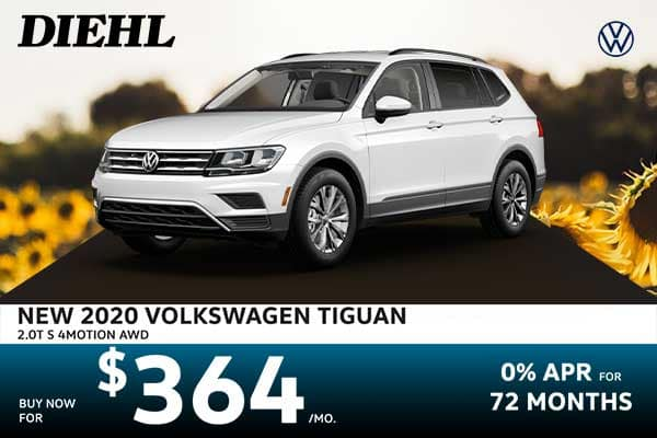 New 2020 Volkswagen Tiguan 2.0T S AWD