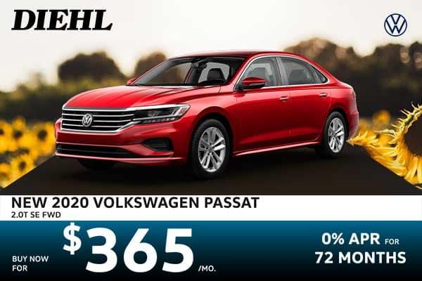 New 2020 Volkswagen Passat 2.0T SE FWD 4D Sedan