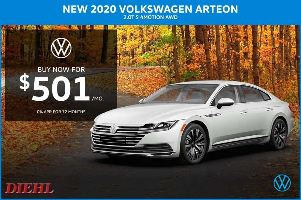 NEW 2020 VOLKSWAGEN ARTEON 2.0T SE AWD