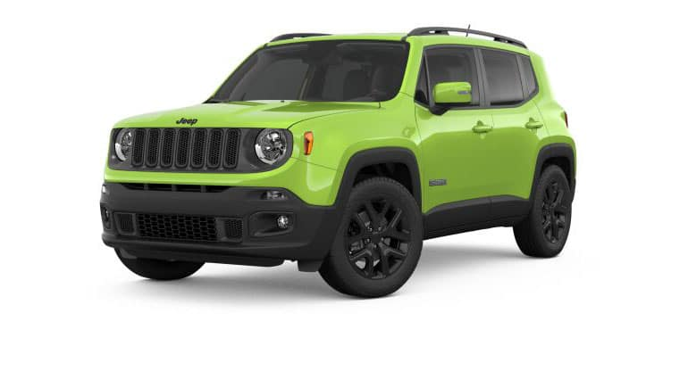 2018 Jeep Renegade Altitude White Background