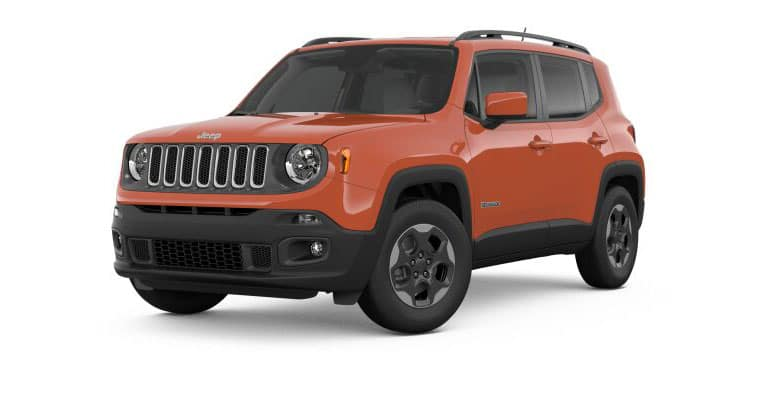 2018 Jeep Renegade Latitude White Background