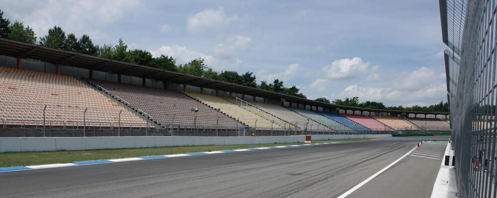 Drag Strip with Pit Lane and Bleachers