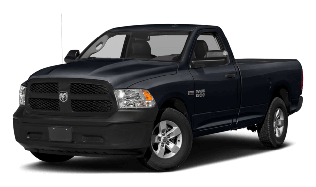 2018 RAM 1500 black pickup truck