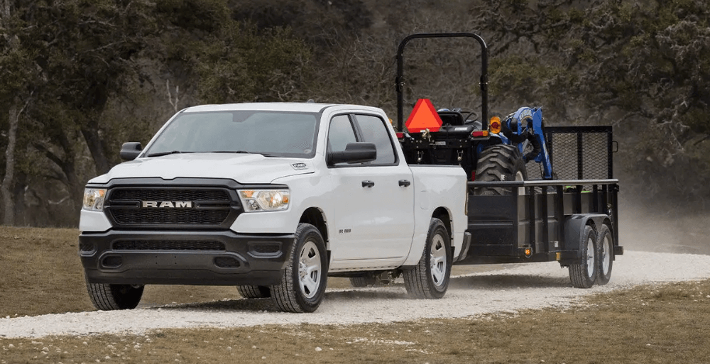 2019 All-New RAM 1500 towing equipment through jobsite