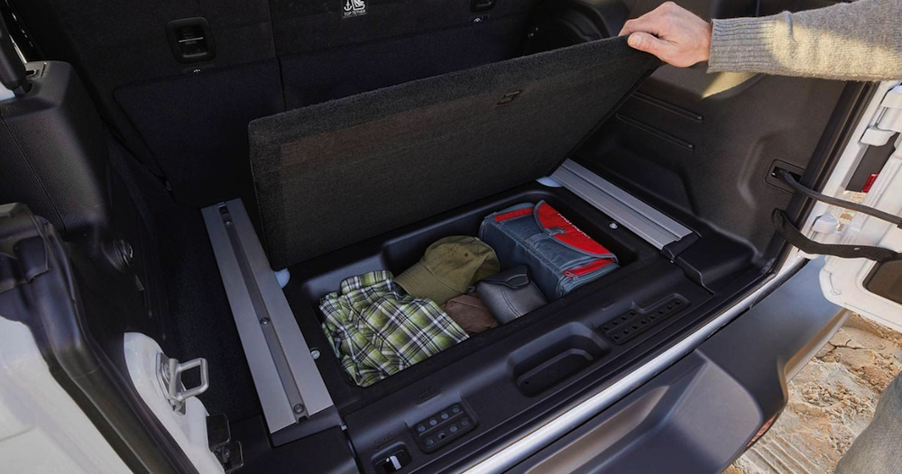 2019 Jeep Wrangler cargo space