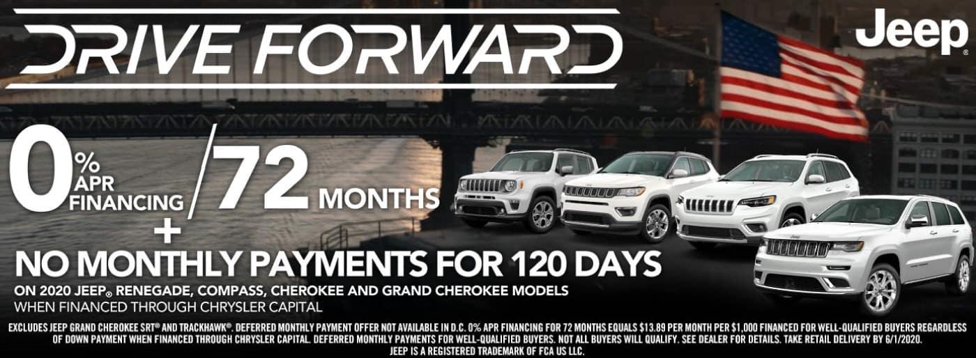 Jeep 0% APR for 72 mos (2020 renegade/compass/cherokee/grandcherokee)
