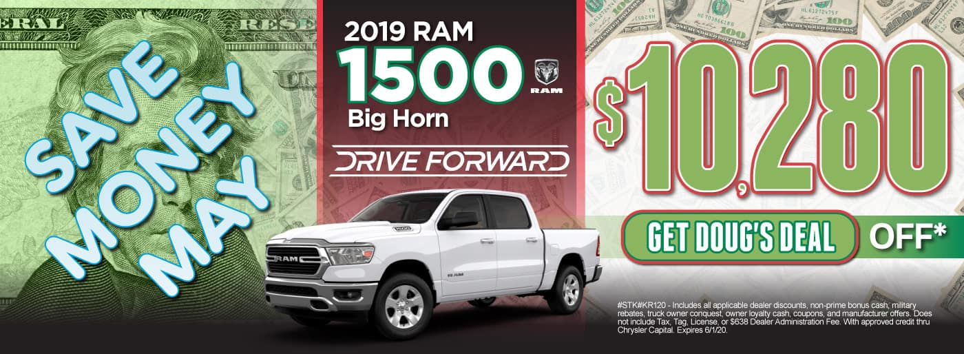 2019 RAM 1500 Big Horn $10,280 Off | Click here for Doug's Deal