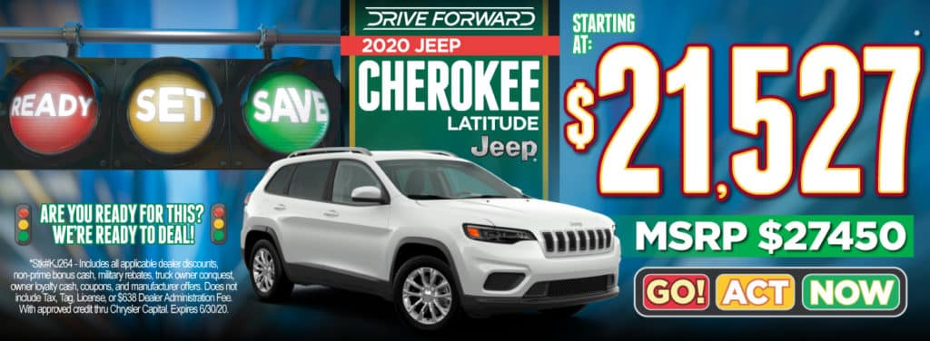 2020 Jeep Cherokee Starting at $21,527 | Act Now