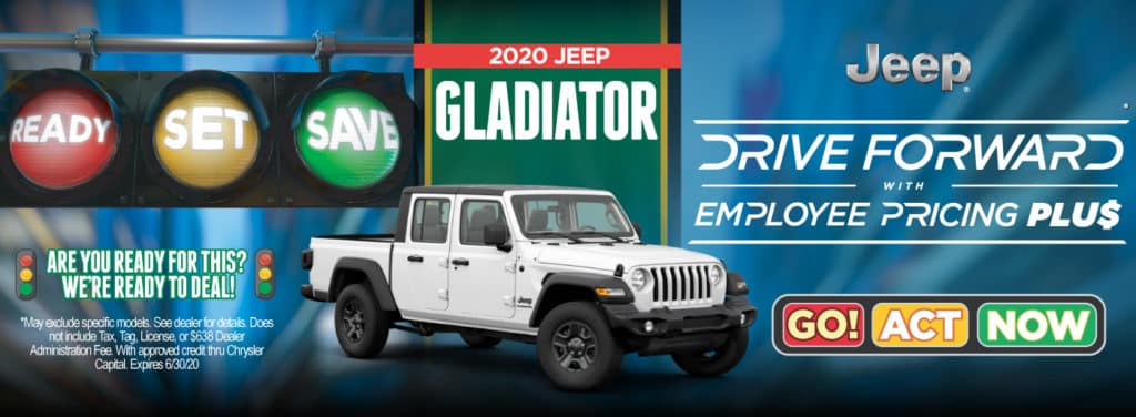2020 Jeep Gladiator Drive forward with Employee Pricing Plus | Act Now