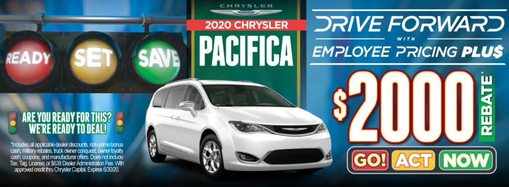 2020 Chrysler Pacifica Employee Pricing Plus $2000 rebate | Act Now