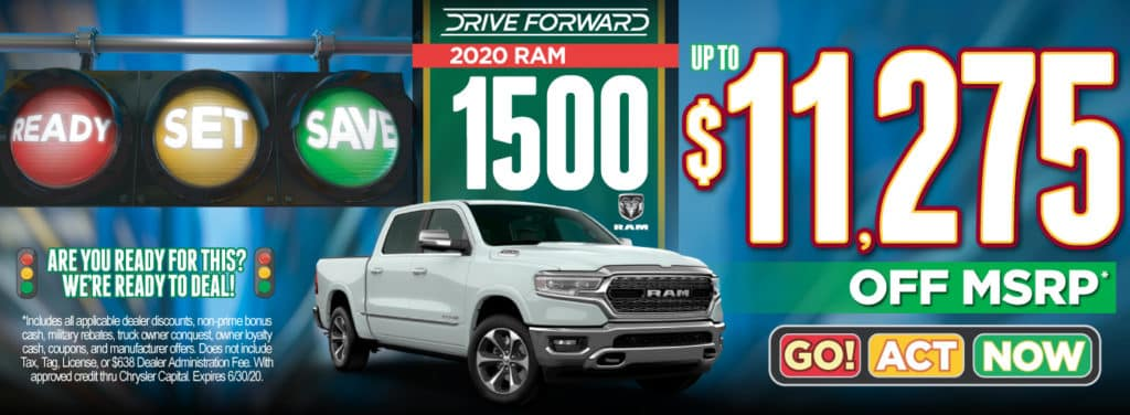 2020 RAM 1500 up to $11,275 | Act Now