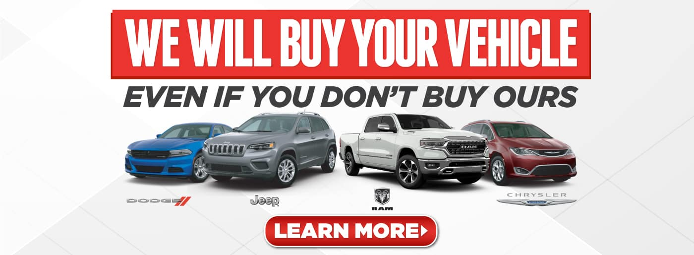 We will buy your vehicle even if you don't buy ours