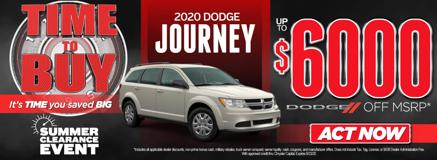 2020 Dodge Journey Up To $6000 off MSRP | Act Now