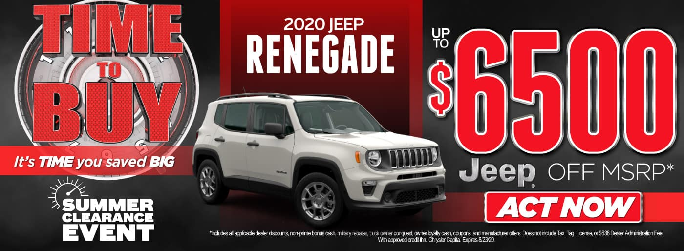 2020 Jeep Renegade Up To $6500 Off MSRP  | Act Now