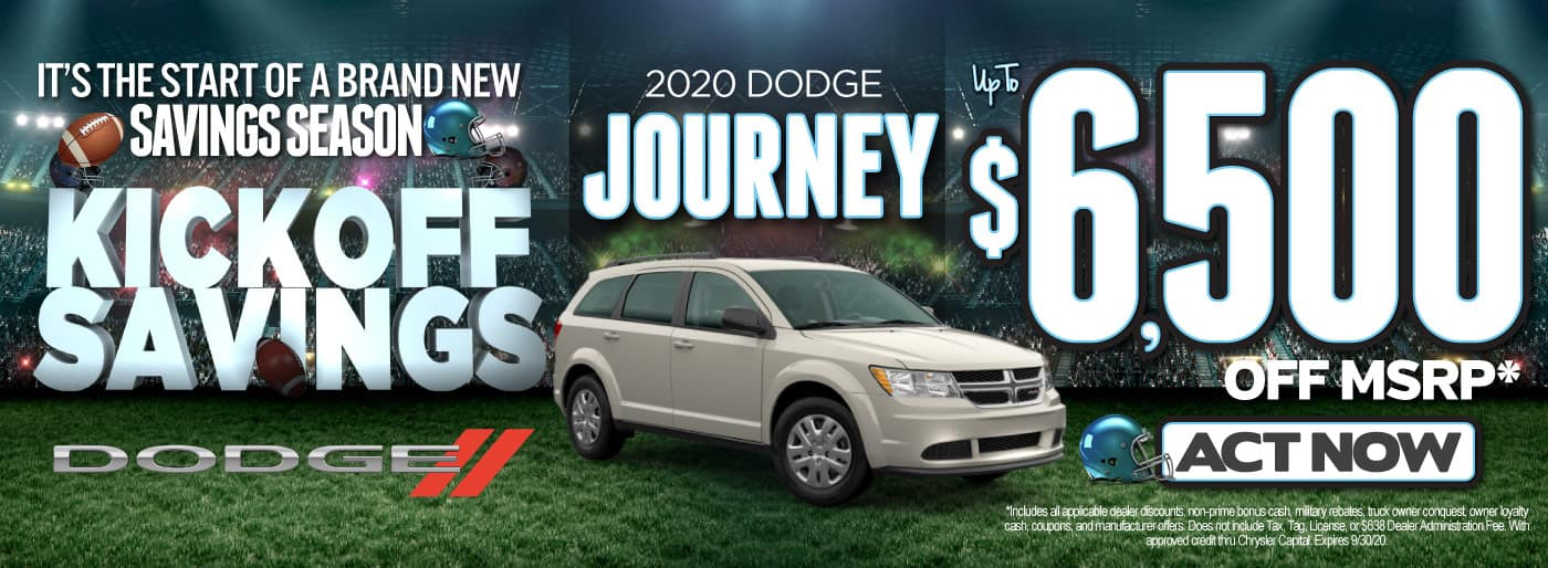 2020 DODGE JOURNEY UP TO $6500 OFF   Act Now
