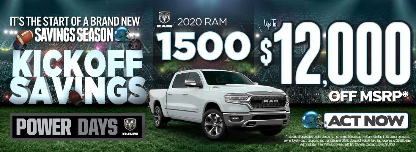 2020 RAM 1500 UP TO $12,000 OFF   Act Now