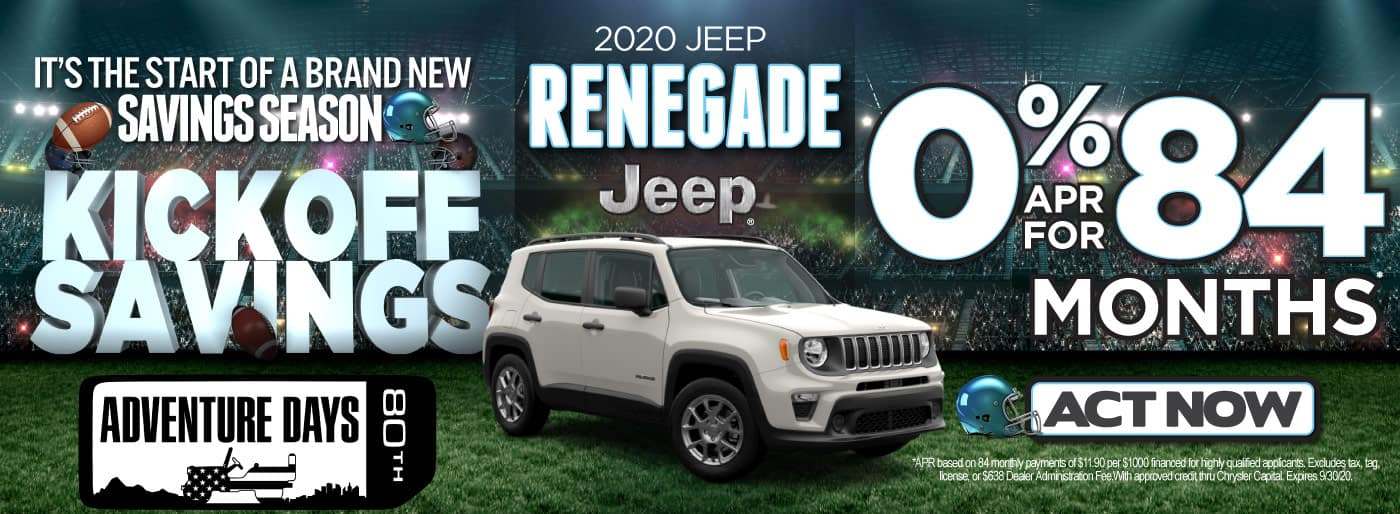 2020 JEEP RENEGADE 0% FOR 84 MONTHS   Act Now