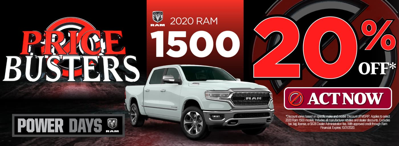 2020 Ram 1500 | 20% off | Click to View Inventory