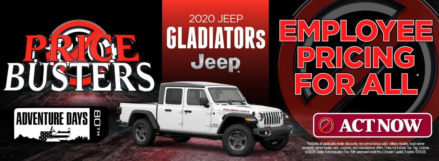 2020 Jeep Gladiators | Employee Pricing for All | Click to View Inventory