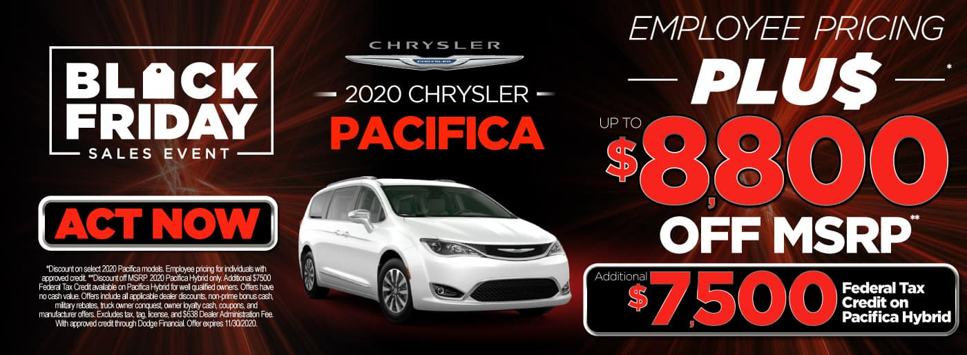 2020 Pacifica Employee Pricing plus up to $8,800 off msrp | Act Now