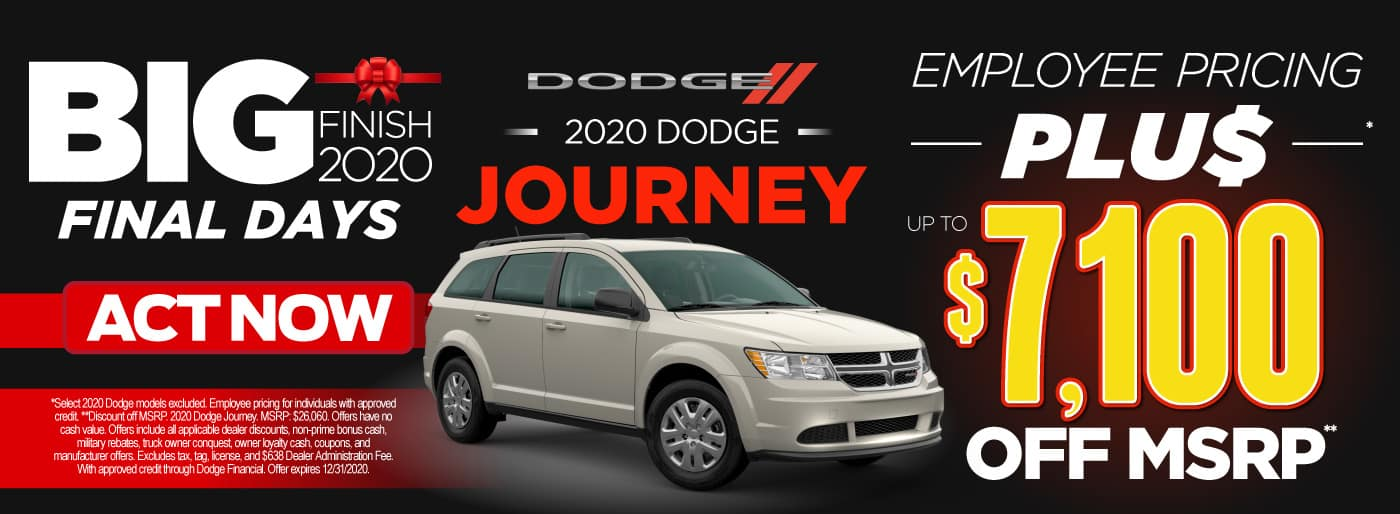 2020 Journey employee pricing plus up to $7,100 off msrp | Act Now