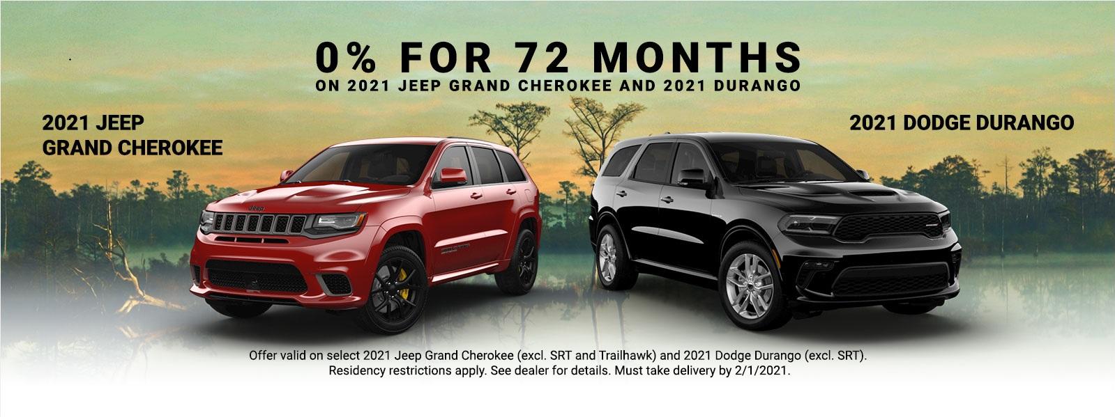 2021 Grand Cherokee and Durango Specials