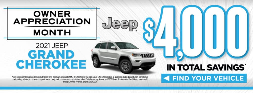 2021 Jeep Grand Cherokee | $4,000 in total savings | Act Now