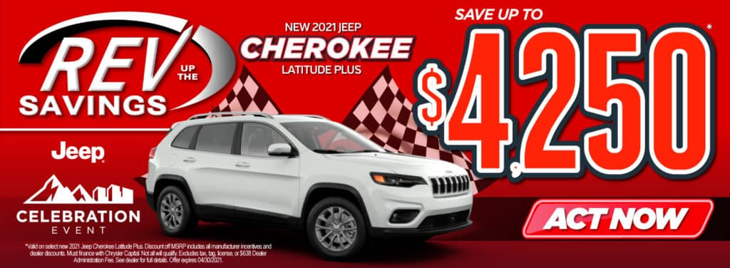 New 2021 Jeep Cherokee save up to $4,250 | Act Now