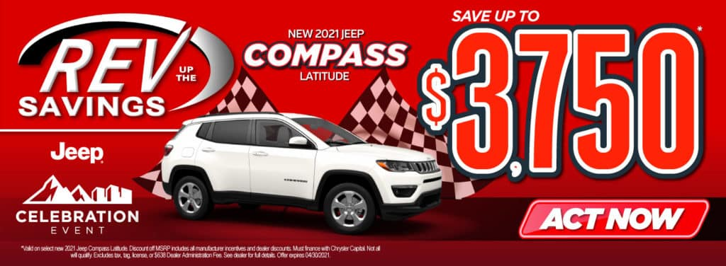 New 2021 Jeep Compass save up to $3,750