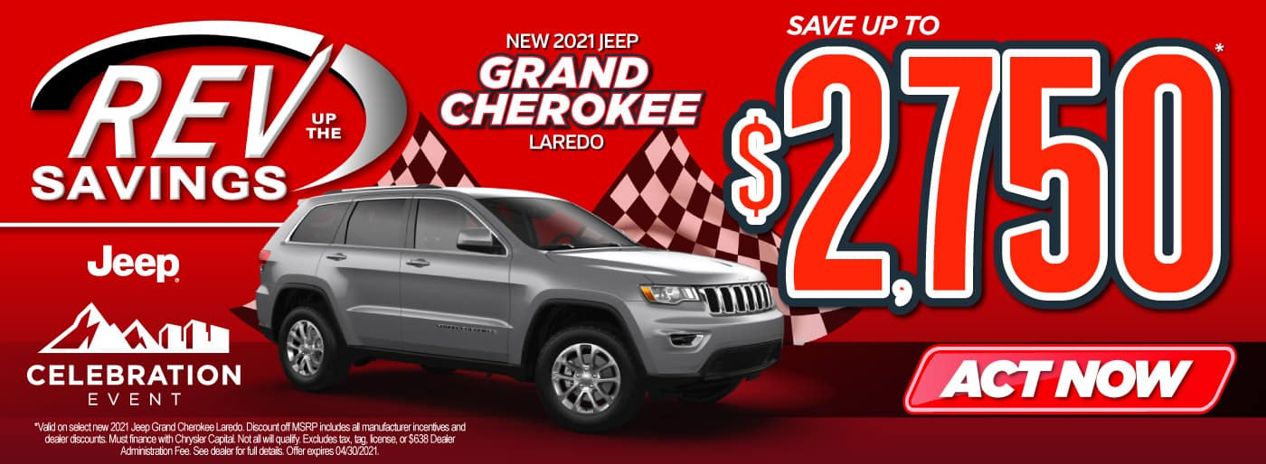 New 2021 Jeep Grand Cherokee save up to $2,750   Act Now
