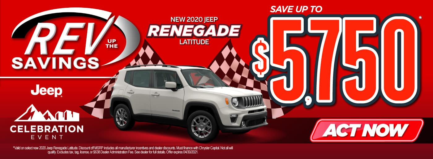New 2020 Jeep Renegade save up to $5,750   Act Now